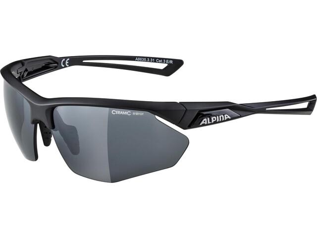 Alpina Nylos HR Okulary rowerowe, black matt